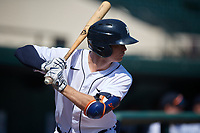 Detroit Tigers Kingston Liniak (9) on deck during a Florida Instructional League intrasquad game on October 17, 2020 at Joker Marchant Stadium in Lakeland, Florida.  (Mike Janes/Four Seam Images)