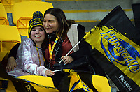 Fans in the grandstand during the Super Rugby Tran-Tasman match between the Hurricanes and Reds at Sky Stadium in Wellington, New Zealand on Friday, 11 June 2020. Photo: Dave Lintott / lintottphoto.co.nz