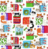 Kate, GIFT WRAPS, GESCHENKPAPIER, PAPEL DE REGALO, Christmas Santa, Snowman, Weihnachtsmänner, Schneemänner, Papá Noel, muñecos de nieve, paintings+++++Cats in bags,GBKM96,#gp#,#x# ,sticker,stickers