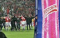 BOGOTA - COLOMBIA -27 -01-2015: Los jugadores de Independiente Santa Fe, celebran el titulo de la Super Liga 2015, en el estadio Nemesio Camacho El Campin de la ciudad de Bogota.   / The players of Independiente Santa Fe, celebrate the title of the Super Liga 2015 at the the Nemesio Camacho El Campin Stadium in Bogota city. Photo: VizzorImage / Luis Ramirez / Staff.
