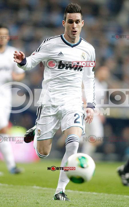 Real Madrid's Jose Callejon during Kin's Cup match. January 30, 2013. (ALTERPHOTOS/Alvaro Hernandez)