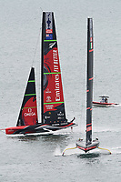 16th March 2021; Waitemata Harbour, Auckland, New Zealand;  Emirates Team New Zealand v Luna Rossa Prada Pirelli. Race 9, Day 6 of the America's Cup presented by Prada