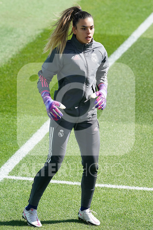 First official match and first classic in the history of women's Real Madrid.<br /> Real Madrid's Misa Rodriguez during Spanish Female League match. October 4,2020. (ALTERPHOTOS/Acero)