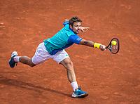 Paris, France, 5 June, 2017, Tennis, French Open, Roland Garros,  Stan Wawrinka (SUI) in his match against  Gael Monfils <br /> Photo: Henk Koster/tennisimages.com