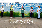 Celebrating the Nursing Homes of Ireland Art Week with a mural painted on the wall in Fatima Home by the Tralee Art Group on Monday. L to r: Geraldine Kissane, Eileen Corcoran and Clem O'Keeffe from the Tralee Art Group, Helen Barrett (Activities Co-ordinator, Fatima Home) and Karen Stack (Health Care Assistant).