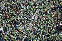 Fans, in a 3-0 Seattle Sounders victory over the New Your Red Bulls, Thursday, March 19, 2009.