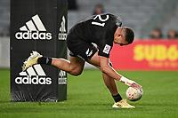 22nd May 2021; Eden Park, Auckland New Zealand; All Blacks Sevens versus Australia, Trans-Tasman Sevens;  William Warbrick (nzl) open field run and scores his try
