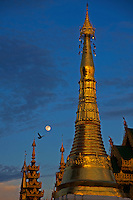 Shwedagon Pagoda during the month of the full Moon, Yangon Myanmar