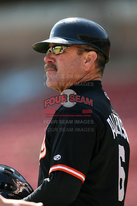 May 9, 2009:  Manager Gary Allenson of the Norfolk Tides, International League Class-AAA affiliate of the Baltimore Orioles, during a game at Coca-Cola Field in Buffalo, FL.  Photo by:  Mike Janes/Four Seam Images