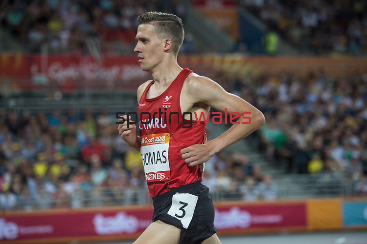 Wales Ieuan Thomas compete in the Men's 3000m Steplechase<br /> <br /> *This image must be credited to Ian Cook Sportingwales and can only be used in conjunction with this event only*<br /> <br /> 21st Commonwealth Games - Athletics - Day 9 - 13\04\2018 - Carrara Stadium - Gold Coast City - Australia
