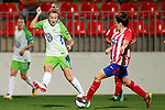 Atletico de Madrid's Silvia Meseguer (r) and VfL Wolfsburg's Zsanett Jakabfi during UEFA Womens Champions League 2017/2018, 1/16 Final, 1st match. October 4,2017. (ALTERPHOTOS/Acero)