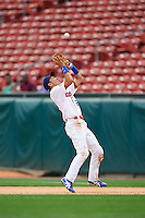Buffalo Bisons second baseman Munenori Kawasaki (66) catches a popup during a game against the Columbus Clippers on July 19, 2015 at Coca-Cola Field in Buffalo, New York.  Buffalo defeated Columbus 4-3 in twelve innings.  (Mike Janes/Four Seam Images)