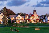 Houses, Oak Bluffs, Martha's Vineyard, Massachusetts, USA