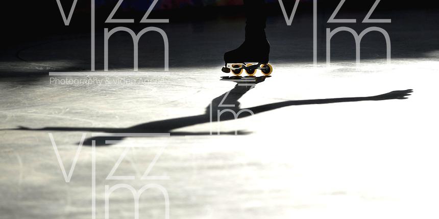 CALI - COLOMBIA - 18 - 09 - 2015: Chen Yi-Fan, deportista de China Taipei, durante la prueba de Figuras Obligatorias Mayores Varones, en el LX Campeonato Mundial de Patinaje Artistico, en el Velodromo Alcides Nieto Patiño de la ciudad de Cali. / Chen Yi-Fan,  sportman of China Taipei,  during the Compulsory Figures test Senior Varones, in the LX World Championships  Figure Skating, at the Alcides Nieto Patiño Velodrome in Cali City. Photo: VizzorImage / Luis Ramirez / Staff.