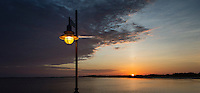 Street lamp and sunset.