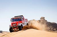 4th January 2021; Dakar Rally stage 2;  #504 Loprais Ales (cze), Pokora Petr (cze), Alkendi Khalid (are), Praga, Instaforex Loprais Praga, Camion, Truck, action during the 2nd stage of the Dakar 2021 between Bisha and Wadi Al Dawasir, in Saudi Arabia on January 4, 2021