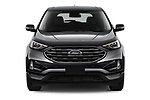 Car photography straight front view of a 2021 Ford Edge Titanium-FWD 5 Door suv Front View