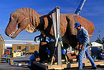 Delivery and installation of dinosaur exhibit at the Museum of Natural HIstory in Downtown Los Angeles, CA