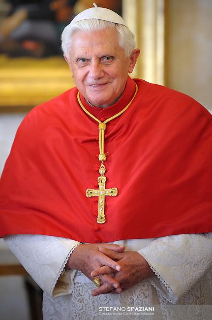 Pope Benedict XVI private library at the Vatican, Dec. 1, 2008.