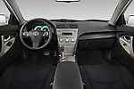 Straight dashboard view of a 2010 Toyota Camry SE V6.