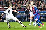 VfL Borussia Monchengladbach's Tony Jantschke, FC Barcelona's Leo Messi during Champions League match between Futbol Club Barcelona and VfL Borussia Mönchengladbach  at Camp Nou Stadium in Barcelona , Spain. December 06, 2016. (ALTERPHOTOS/Rodrigo Jimenez)