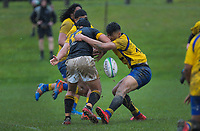 Action from the traditional Wellington 1st XV secondary schools rugby union match between Rongotai College and Wellington College at Rongotai College in Wellington, New Zealand on Saturday, 19 August 2020. Photo: Dave Lintott / lintottphoto.co.nz