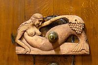 decorative carved vat closure aime stentz & fils wettolsheim alsace france
