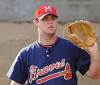 9 April 2008: RHP Michael Nix (51) of the Mississippi Braves, Class AA affiliate of the Atlanta Braves, in the season's home opener against the Mobile BayBears at Trustmark Park in Pearl, Miss. Photo by:  Tom Priddy/Four Seam Images