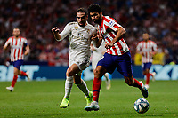 Diego Costa of Atletico de Madrid and Dani Carvajal of Real Madrid during La Liga match between Atletico de Madrid and Real Madrid at Wanda Metropolitano Stadium{ in Madrid, Spain. {iptcmonthname} 28, 2019. (ALTERPHOTOS/A. Perez Meca)<br /> Liga Spagna 2019/2020 <br /> Atletico Madrid - Real Madrid <br /> Foto Perez Meca Alterphotos / Insidefoto <br /> ITALY ONLY