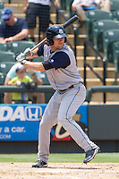 Colorado Springs Sky Sox second baseman Charlie Culberson (15) at bat against the Round Rock Express in the Pacific Coast League baseball game on May 19, 2013 at the Dell Diamond in Round Rock, Texas. Colorado Springs defeated Round Rock 3-1 in 10 innings. (Andrew Woolley/Four Seam Images).