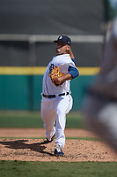 Detroit Tigers pitcher Gio Arriera (57) during a Florida Instructional League intrasquad game on October 24, 2020 at Joker Marchant Stadium in Lakeland, Florida.  (Mike Janes/Four Seam Images)