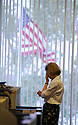 A woman takes a break at The Times-Picayune in New Orleans, Wednesday, April 5, 2006..(Cheryl Gerber for New York Times)..