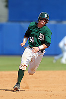 Dartmouth Big Green catcher Chris O'Dowd #24 during a game vs. the Northwestern Wildcats at Chain of Lakes Park in Winter Haven, Florida;  March 20, 2011.  Northwestern defeated Dartmouth 3-2.  Photo By Mike Janes/Four Seam Images