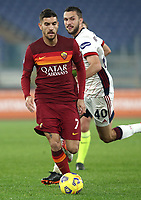Football, Serie A: AS Roma - Cagliari calcio, Olympic stadium, Rome, December 23, 2020. <br /> Roma's Lorenzo Pellegrini in action during the Italian Serie A football match between Roma and Cagliari at Rome's Olympic stadium, on December 23, 2020.  <br /> UPDATE IMAGES PRESS/Isabella Bonotto