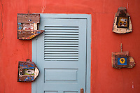 Art on Display inside a Goree Courtyard, Biannual Arts Festival, Goree Island, Senegal