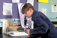 A 13 year-old Onondaga Iroquois boy studying at school  Nedrow,New York