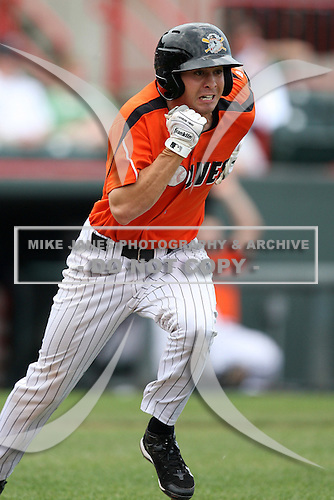 Erie Seawolves Shortstop Cale Iorg (7) during a game vs. the Trenton Thunder at Jerry Uht Park in Erie, Pennsylvania;  June 24, 2010.   Trenton defeated Erie 11-2  Photo By Mike Janes/Four Seam Images