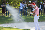 Peter Uihlein of USA gets his ball out of a bunker during the 58th UBS Hong Kong Golf Open as part of the European Tour on 11 December 2016, at the Hong Kong Golf Club, Fanling, Hong Kong, China. Photo by Vivek Prakash / Power Sport Images
