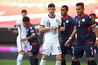 ZAPOPAN, MEXICO - MARCH 21: Sebastian Soto #19 of the United States maneuvers for position during a game between Dominican Republic and USMNT U-23 at Estadio Akron on March 21, 2021 in Zapopan, Mexico.