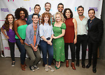"""Kennedy Caughell, Daisy Hobbs, Chris Dwan, Zach Adkins, Lindsay Nicole Chambers, Alex Gibson, Amanda Jane Cooper, Blaine Alden Krauss, Mary Page Nance, Nicholas Belton and Hunter Ryan Herdlicka backstage at the New York Musical Festival production of  """"Alive! The Zombie Musical"""" at the Alice Griffin Jewel Box Theatre on July 29, 2019 in New York City."""