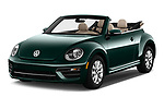 2017 Volkswagen Beetle S 2 Door Convertible Angular Front stock photos of front three quarter view