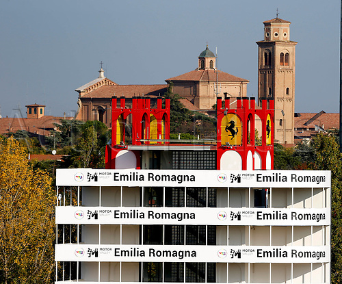 31st October 2020, Imola, Italy; FIA Formula 1 Grand Prix Emilia Romagna, Free Practise sessions; The spectator areas in front of Italian villa