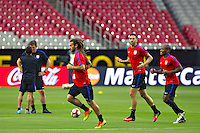 Glendale, AZ - Friday June 24, 2016: Kyle Beckerman,  Darlington Nagbe of the United States during a training prior to the third place match of the Copa America Centenario at the University of Phoenix Stadium.<br /> Action photo during of the United States team training before the game against the selection of Colombia for third place in the America Cup Centenary 2016 at University of Phoenix Stadium<br /> <br /> Foto de accion durante el Entrenamiento de la Seleccion de Estados Unidos previo al partido contra la Seleccion de Colombia por el tercer lugar de la Copa America Centenario 2016, en el Estadio de la Universidad de Phoenix, en la foto: (i-d) Kyle Beckerman, v y Darlington Nagbe de USA<br /> <br /> <br /> 24/06/2016/MEXSPORT/Victor Posadas.