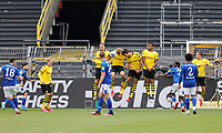 16th May 2020, Signal Iduna Park, Dortmund, Germany; Bundesliga football, Borussia Dortmund versus FC Schalke; An early Goal opportunity  for FC Schalke for Daniel Caligiuri  from a Free kick