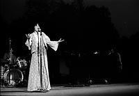 La chanteuse quebecoise Louise Forestier vers 1976<br /> <br /> PHOTO :  Agence Quebec Presse