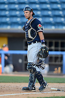 Connecticut Tigers catcher Austin Green (29) during a game against the Staten Island Yankees on July 7, 2013 at Richmond County Bank Ballpark in Staten Island, New York.  Staten Island defeated Connecticut 6-2.  (Mike Janes/Four Seam Images)