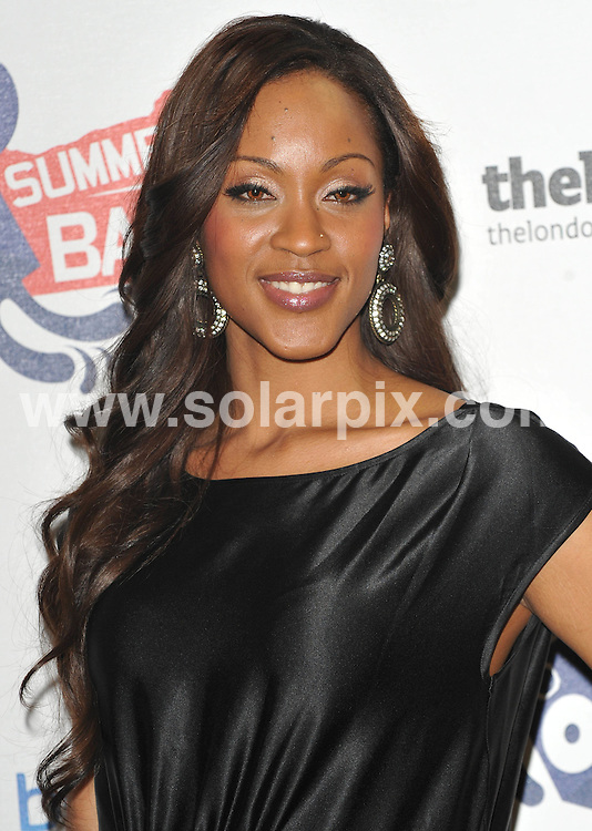 **ALL ROUND PICTURES FROM SOLARPIX.COM**.**WORLDWIDE SYNDICATION RIGHTS**.Inside arrivals at the Capital Fm Summertime Ball.  .Held at the Emirates Stadium, London..This pic:Shontelle..JOB REF:9196       SSD     DATE:07.06.09.**MUST CREDIT SOLARPIX.COM OR DOUBLE FEE WILL BE CHARGED**.**ONLINE USAGE FEE GBP 50.00 PER PICTURE - NOTIFICATION OF USAGE TO PHOTO @ SOLARPIX.COM**.**CALL SOLARPIX : +34 952 811 768 or LOW RATE FROM UK 0844 617 7637**