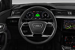 Car pictures of steering wheel view of a 2019 Audi e-tron Advanced 5 Door SUV