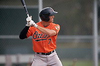 Baltimore Orioles Collin Woody (71) during a Minor League Spring Training game against the Boston Red Sox on March 20, 2018 at Buck O'Neil Complex in Sarasota, Florida.  (Mike Janes/Four Seam Images)