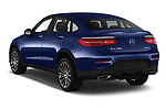 Car pictures of rear three quarter view of a 2018 Mercedes Benz GLC Coupe GLC300 4WD 5 Door SUV angular rear
